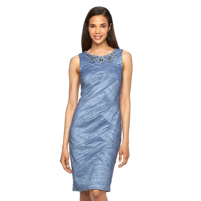 Women's Jessica Howard Embellished Spliced Sheath Dress