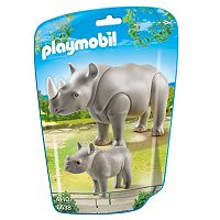 Playmobil Adult Rhino with Baby Rhino Set - 6638