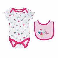 Baby Girl Cutie Pie Bodysuit & Bib Set