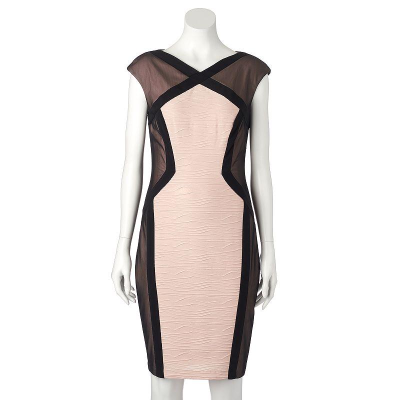 Women's Jax Colorblock Metallic Sheath Dress