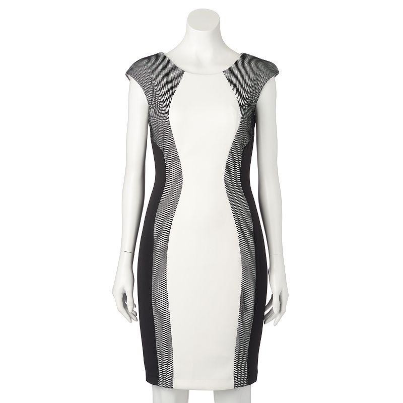 Women's Jax Mesh Colorblock Sheath Dress