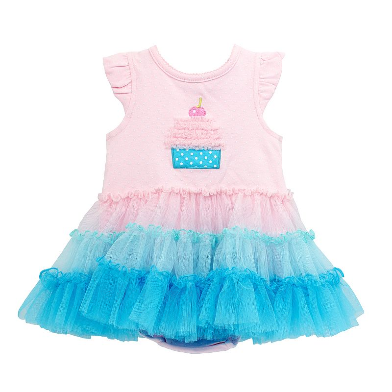 Baby Girl Mini Muffin Tutu Bodysuit Dress