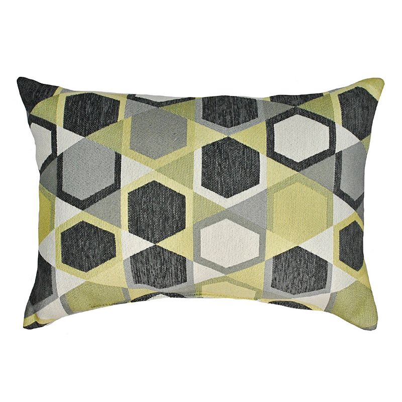 Sherry Kline Honeycomb Boudoir Chenille Oblong Throw Pillow