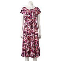 Women's Perceptions Geometric Midi Dress