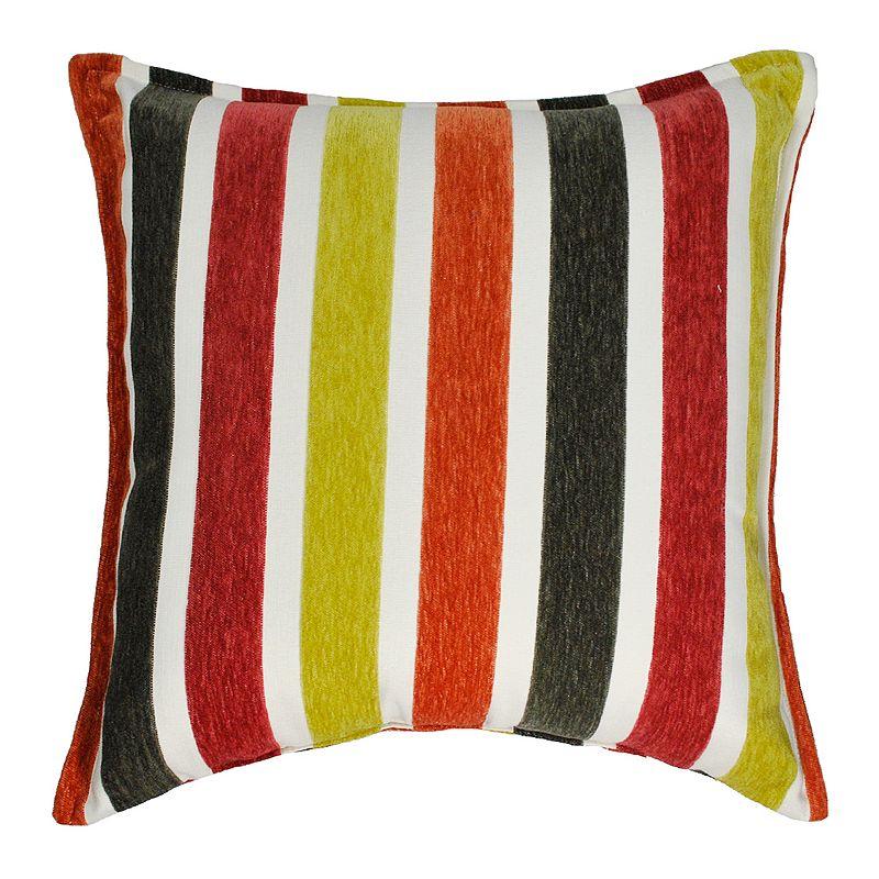 Sherry Kline Zest Stripe Flocking Throw Pillow