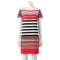 Women's Perceptions Striped Shift Dress