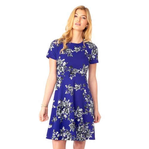 Women's Indication Floral Print Fit & Flare Dress