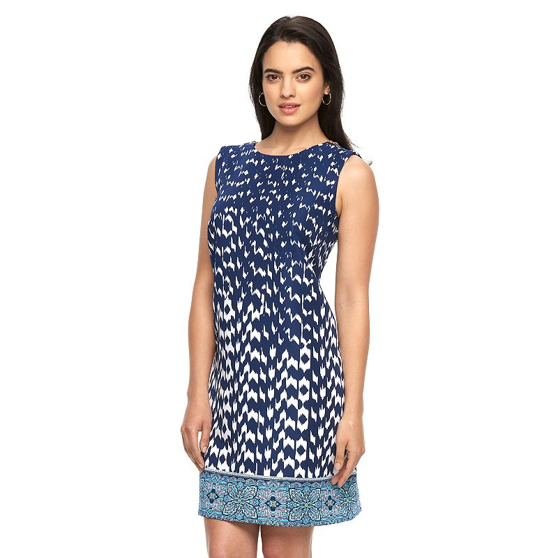 women 39 s ab studio embellished print dress dealtrend