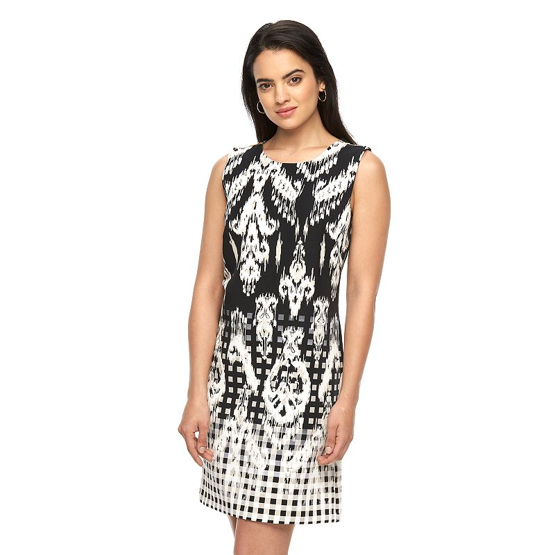 Women's AB Studio Embellished Print Dress