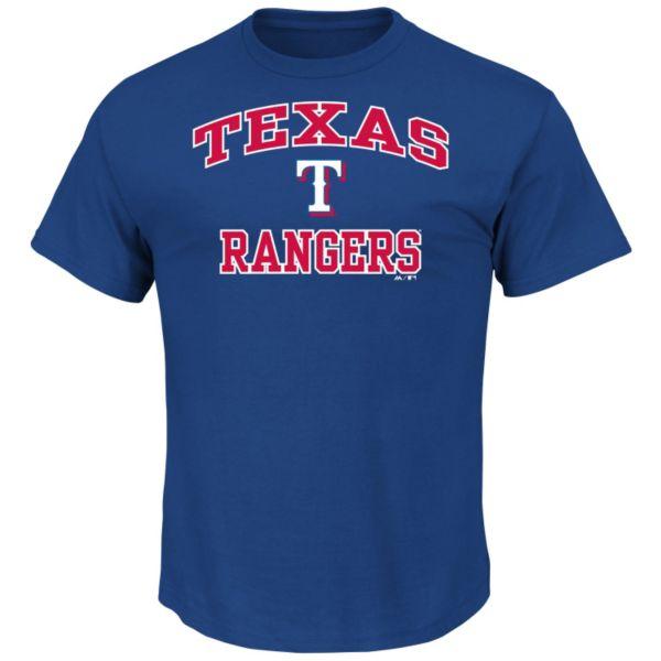 Men's Majestic Texas Rangers Heart & Soul Tee