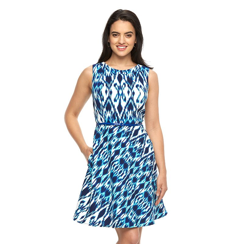 Women's AB Studio Fit & Flare Print Dress