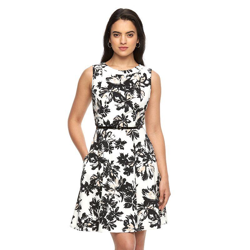 Women's AB Studio Fit & Flare Print Dress