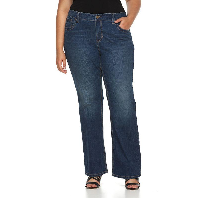 Plus Size Apt. 9® Modern Fit Embellished Bootcut Jeans, Women's, Size: 16W Short, Black