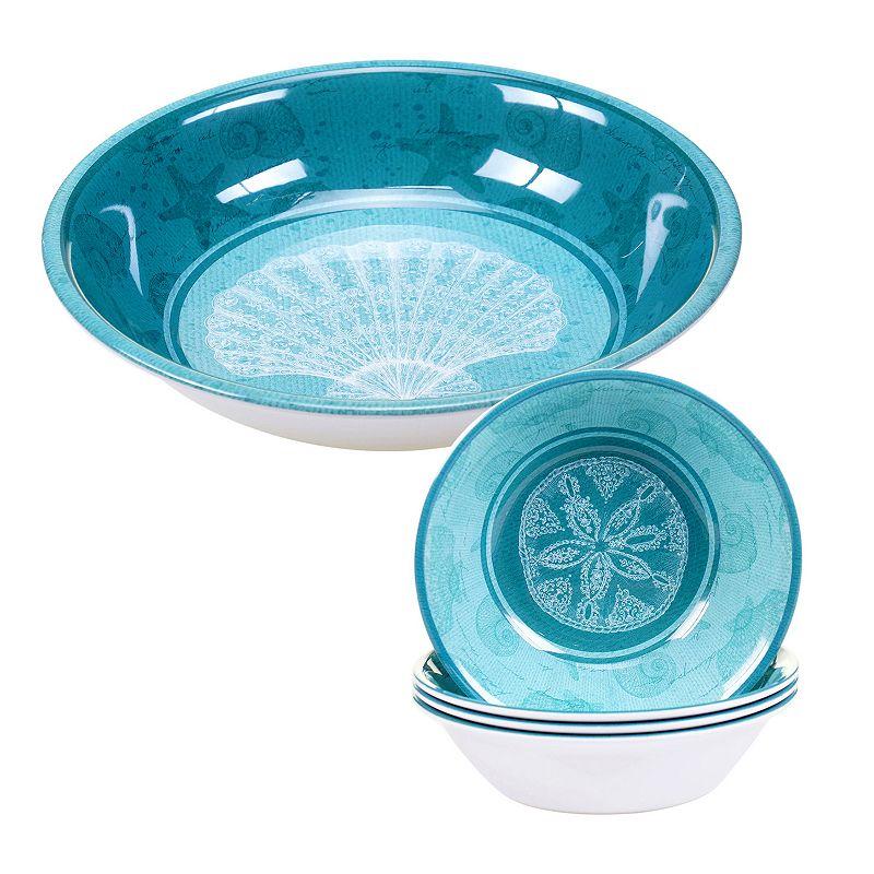Certified International Aqua Treasures 5-pc. Salad Serving Set