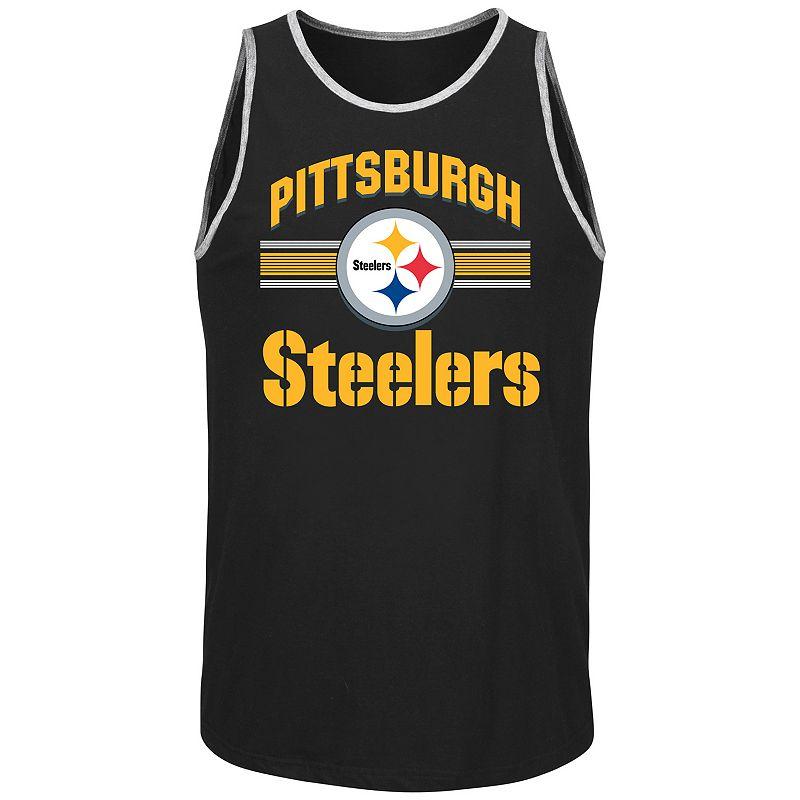 Men's Majestic Pittsburgh Steelers Blitz Tank Top