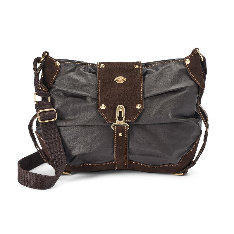 The Same Direction Buckle Leather Crossbody Bag