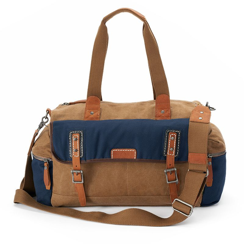 The Same Direction Mountain Wood Canvas & Leather Duffle Bag