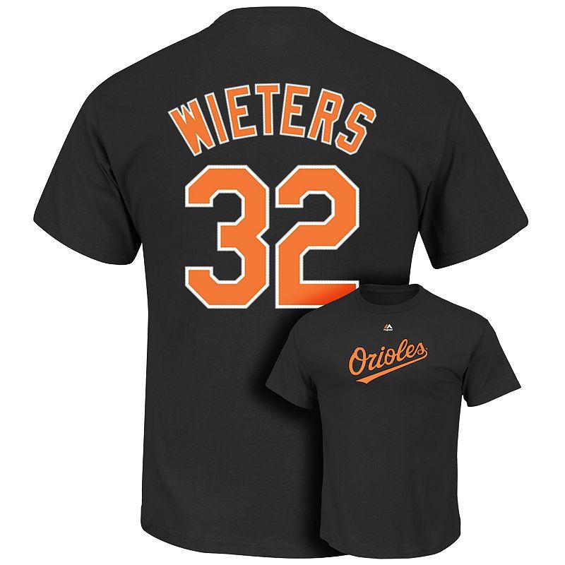 Men's Majestic Baltimore Orioles Matt Wieters Player Name and Number Tee