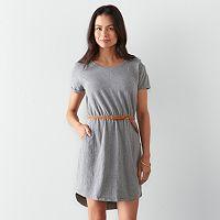 Petite SONOMA Goods for Life™ Solid Drop-Shoulder Dress