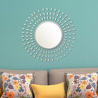 Stratton Home Decor Acrylic Tear Drop Wall Mirror