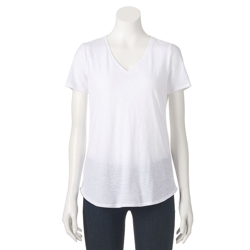 Women's SONOMA Goods for Life™ Essential Shirttail V-Neck Tee