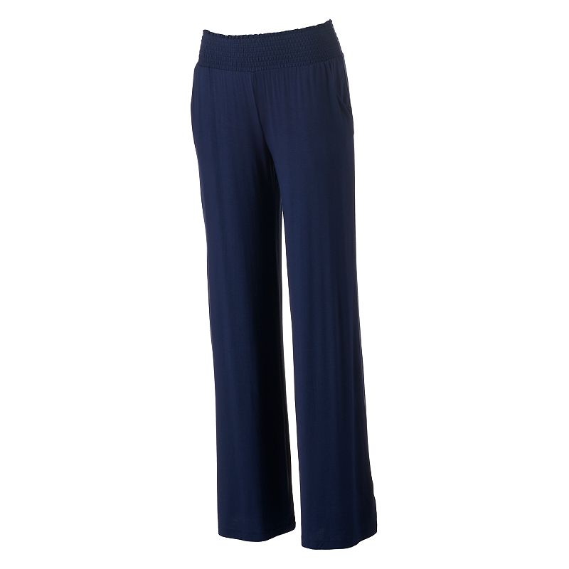Juniors' Tinseltown Smocked Palazzo Pants