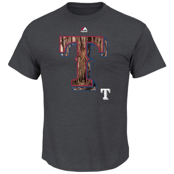 Men's Majestic Texas Rangers Daring Attempt Tee