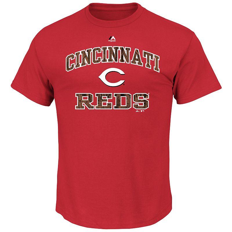 Men's Majestic Cincinnati Reds Inside the Box Tee