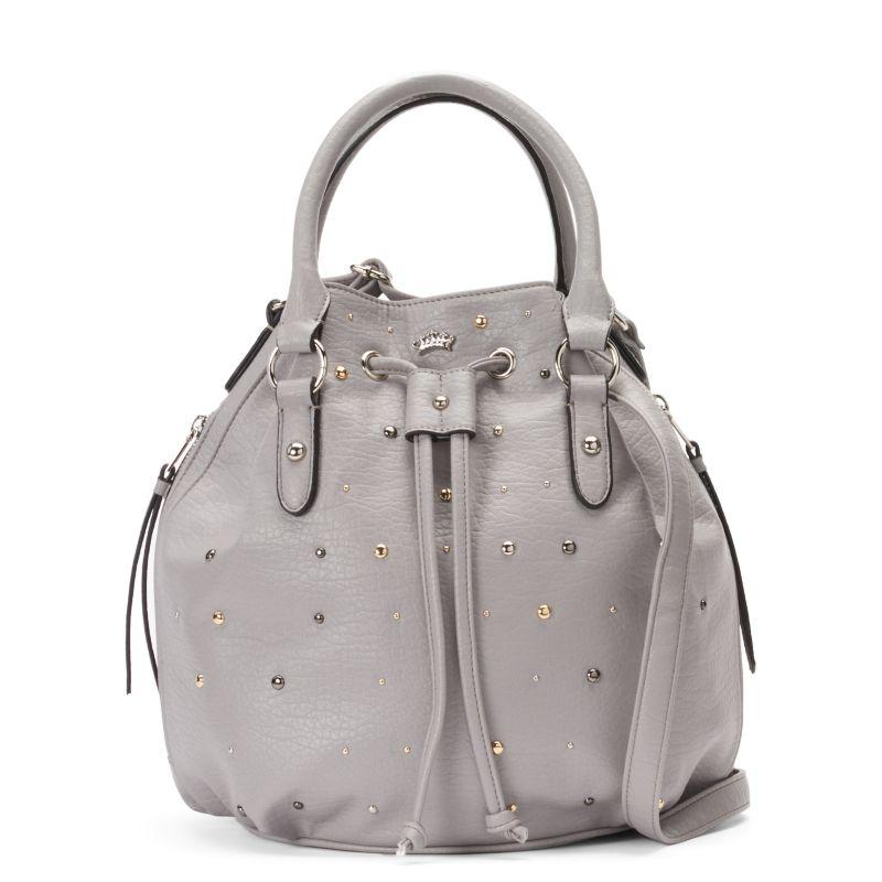 Juicy Couture Joanna Studded Bucket Bag, Women's, Dark Grey