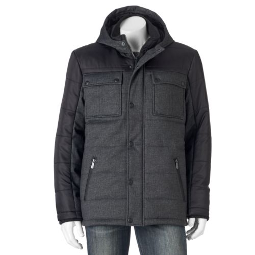 Men's Apt. 9® Modern-Fit Quilted Mixed Media Puffer Jacket
