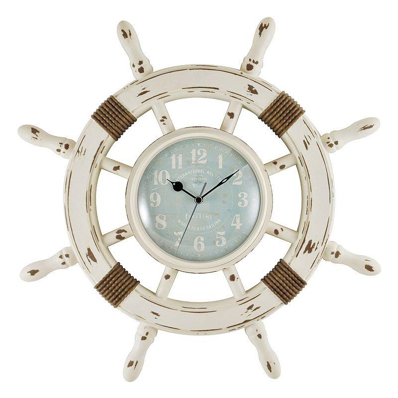 FirsTime Ship Wheel Wall Clock