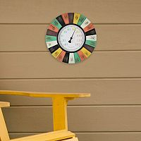 FirsTime Coral Burst Outdoor Wall Thermometer