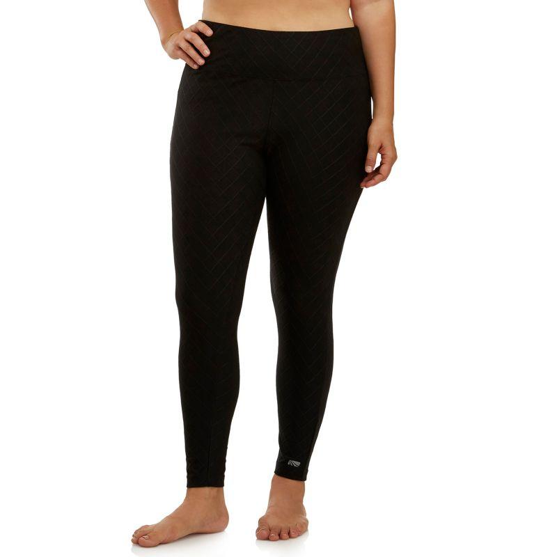 Plus Size Marika Curves Jacquard Yoga Leggings, Women's, Size: 0X, Black