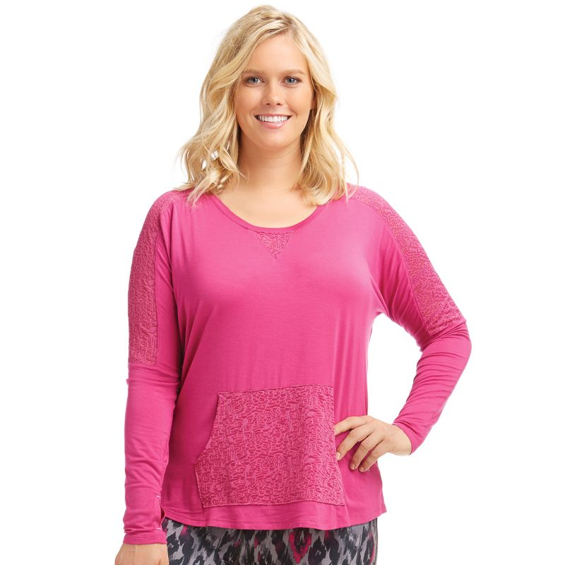 Plus Size Marika Curves Ashlee Yoga Tunic, Women's, Size: 0X, Dark Pink