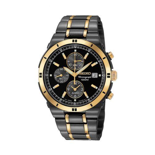 Seiko Stainless Steel Two-Tone Chronograph Watch - Men