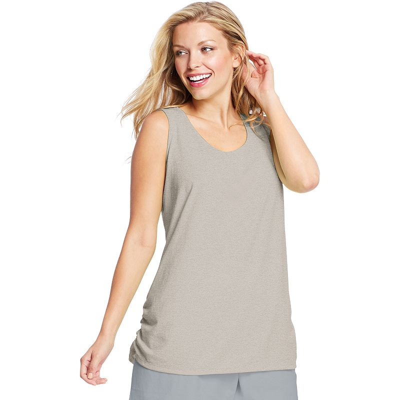 Plus Size Just My Size Ruched Scoopneck Tank
