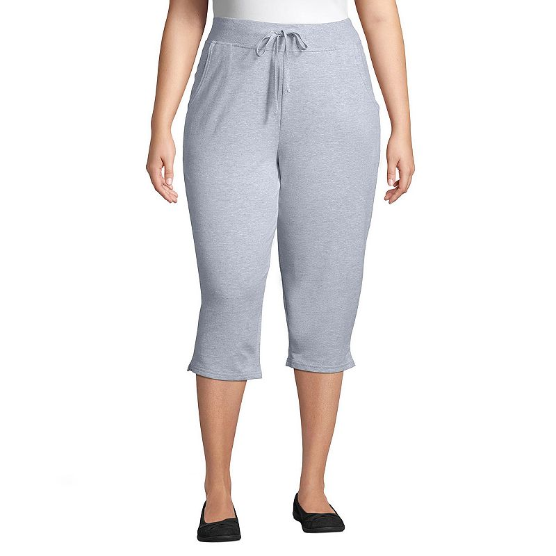 Plus Size Just My Size French Terry Capris