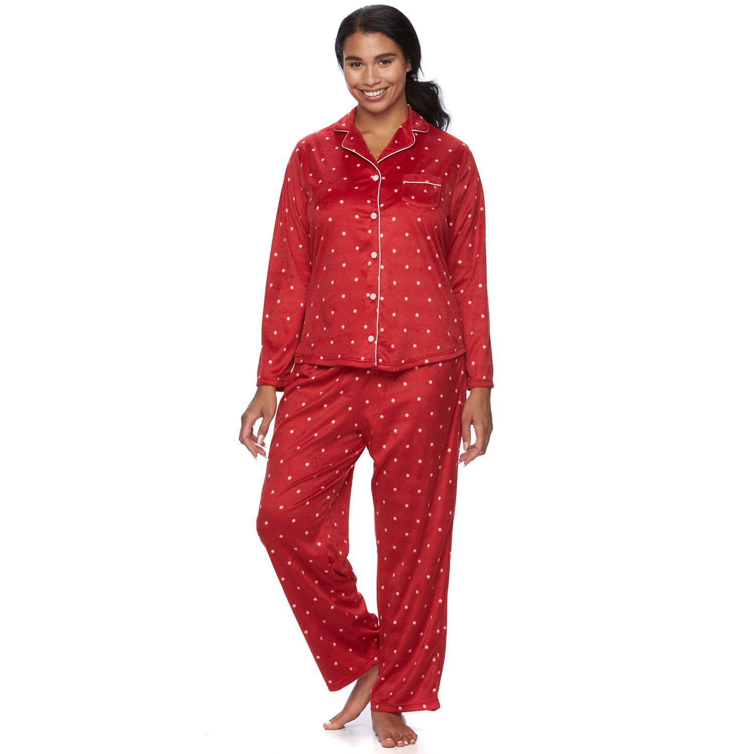 Plus Size Croft & Barrow? Pajamas: Minky Fleece PJ Set