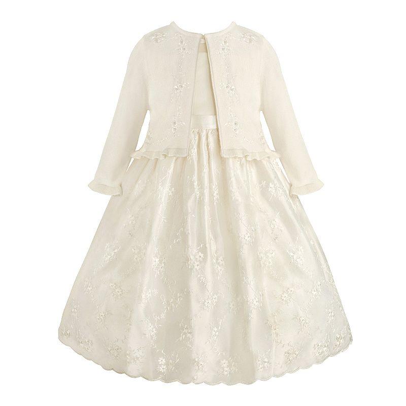 Girls 7-16 American Princess Scalloped Dress & Shrug Set