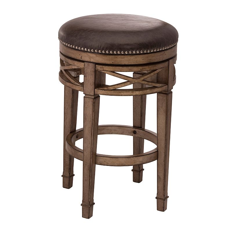 Hillsdale Furniture Chesterfield Backless Swivel Bar Stool