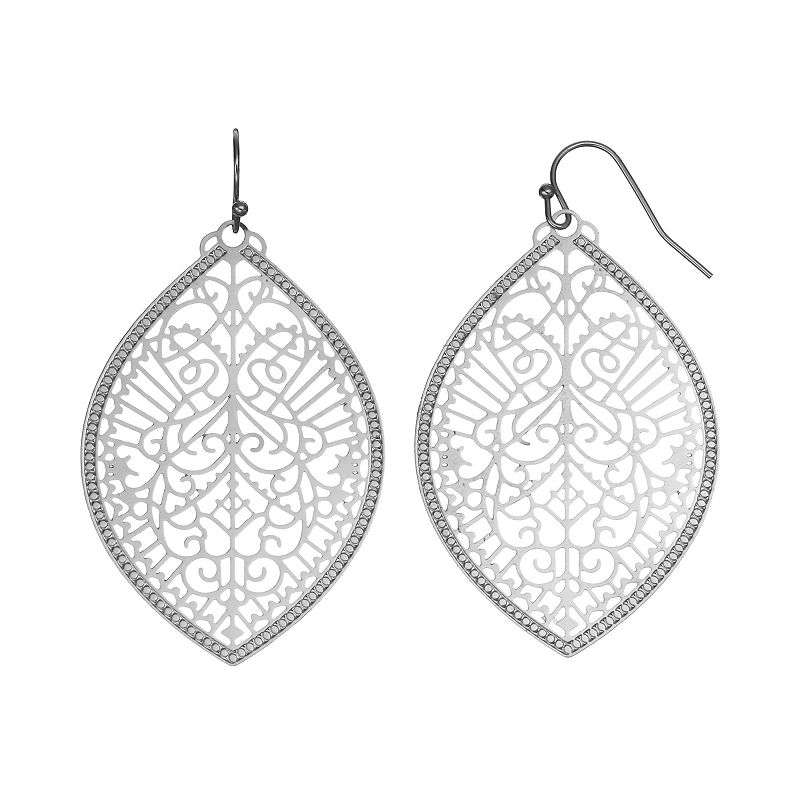 Mudd® Filigree Marquise Drop Earrings