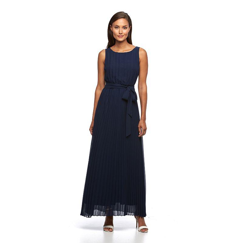 Women's Sharagano Pleated Chiffon Maxi Dress