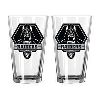 Boelter Oakland Raiders Star Wars Darth Vader 2-Pack Pint Glasses
