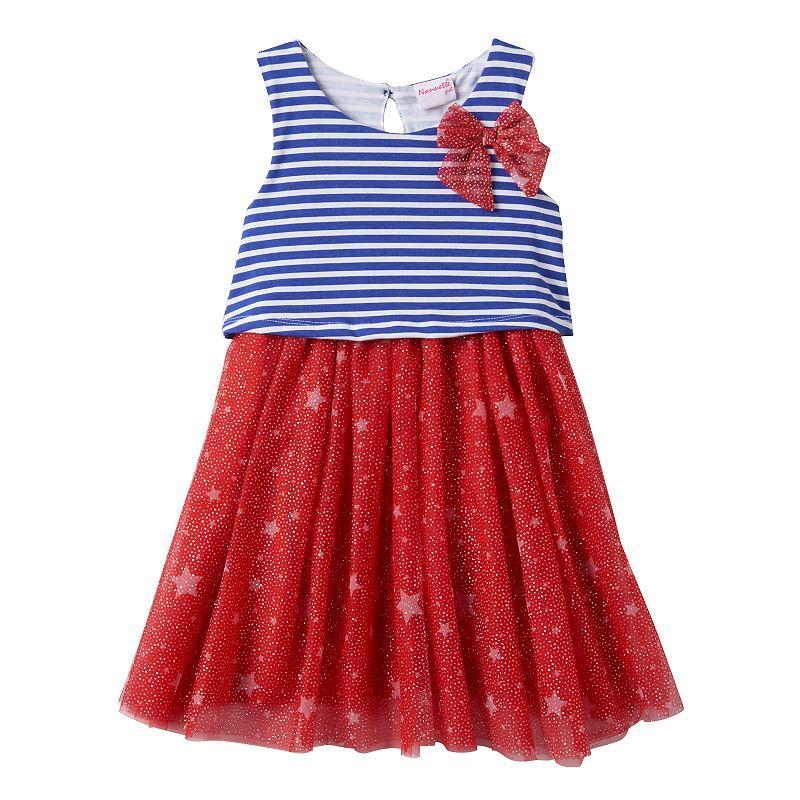 Toddler Girl Nannette Stars & Stripes Popover Dress