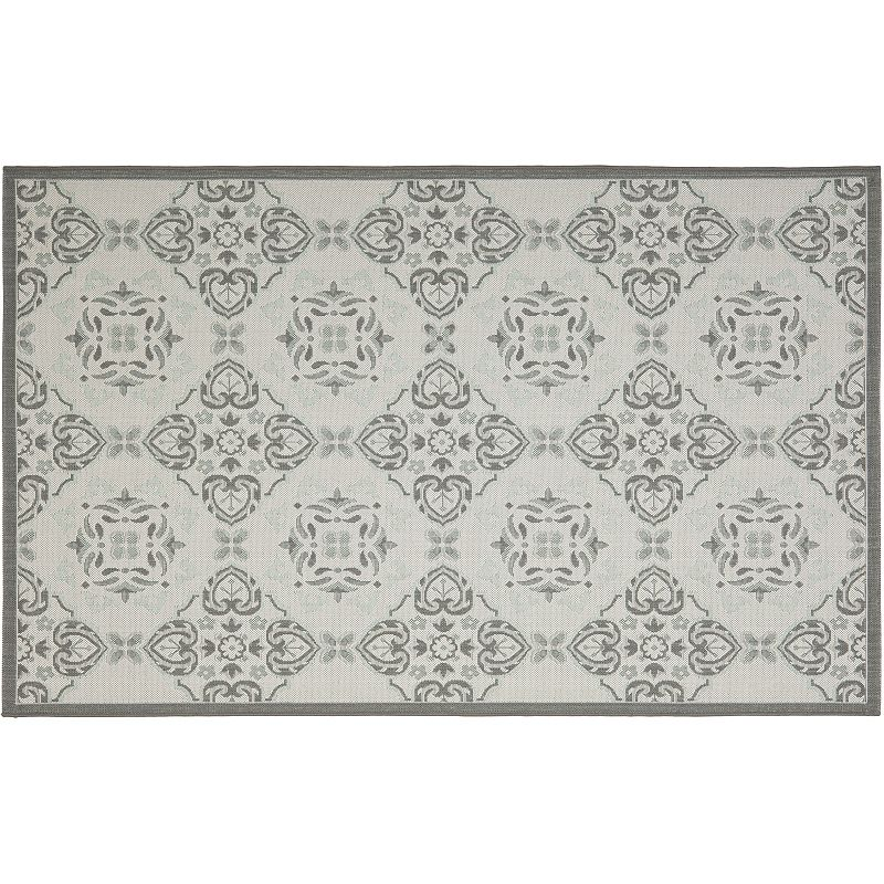 Safavieh Courtyard Windsor Medallion Indoor Outdoor Rug