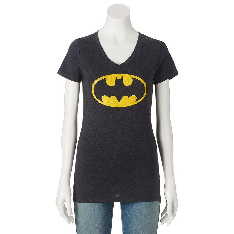 Juniors' DC Comics Batman V-Neck Graphic Tee