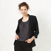 Women's LC Lauren Conrad Crepe Open-Front Blazer