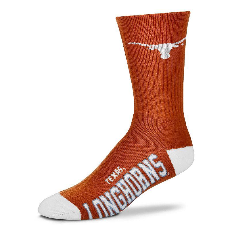 Men's For Bare Feet Texas Longhorns Team Color Crew Socks