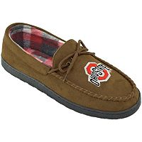 Men's Wide-Width Ohio State Buckeyes Microsuede Moccasins