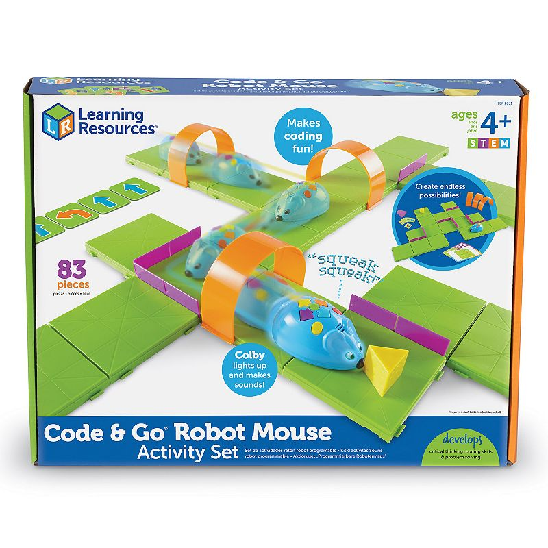 Learning Resources Learning Essentials STEM Robot Mouse Coding Activity Set